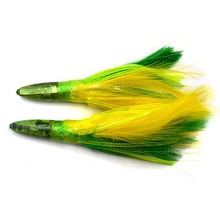 6.5 inch 35g Fishing Jet Tuna Lure Feather Skirt Pusher For Trolling Boat Big Game Bait