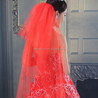 Cheap Wholesale Handmade Beaded Scalloped Red