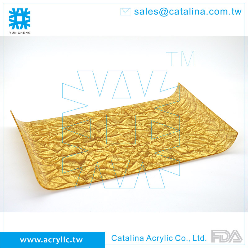 Taiwan Manufacturer High Quality Food Plate Pastry Tray Cake Display Acrylic Banquet Serving Tray
