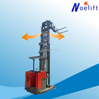 7.5m full free lift 1t new type 3 direction full electric stacker lift price