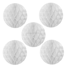 White color honeycomb wedding ball decoration