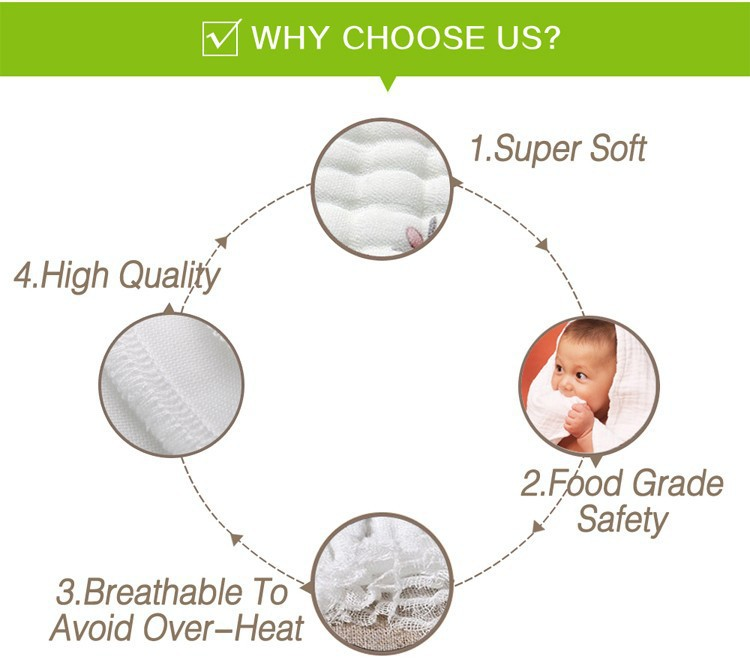 MSR021A super soft breathable bamboo muslin baby cloth diapers