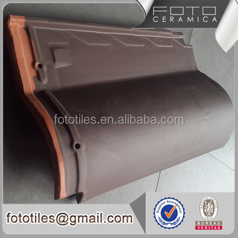 Portuguese coffee terracotta ceramic coated flat roof tile made in china