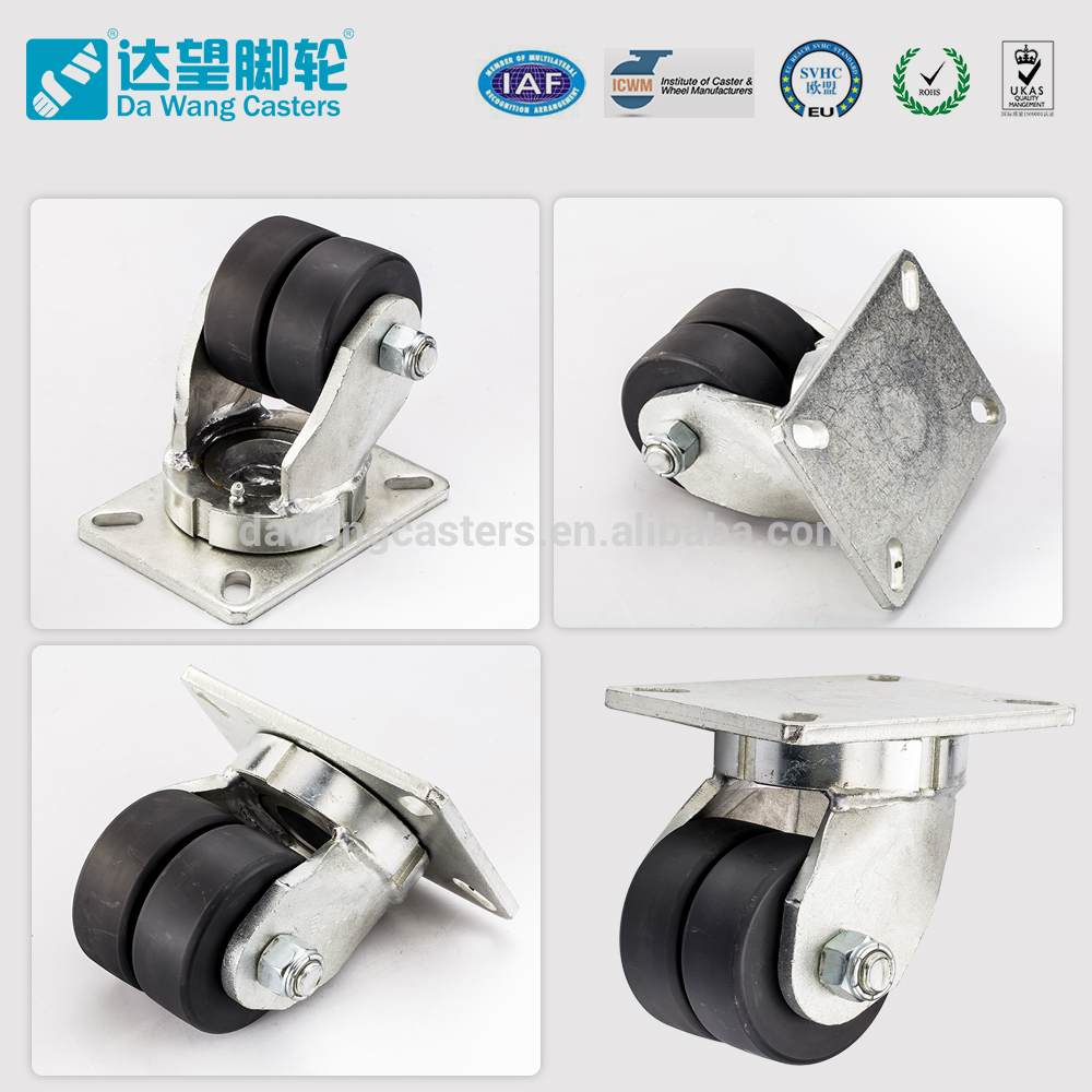 2.2 ton load 4 inch diameter nylon 100mm caster wheel With Stable Function