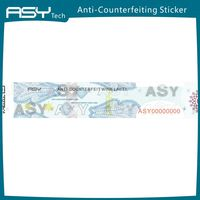Anti-counterfeiting hologram watermark security paper sticker