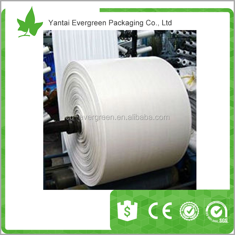 China Plastic fabric - PP WOVEN FABRIC ROLL FOR MAKING BAG - FERTILIZERS, RICE, SAND, CONSTRUCTION MATERIAL, 100% virgin pp