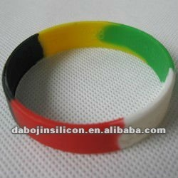 segmented colors silicone wristband