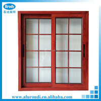 China wood grain finish aluminium casement window