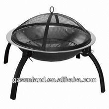 Folding/Cheap/Supplier BBQ Fire Pit, Legs Can be Folded to Save Space