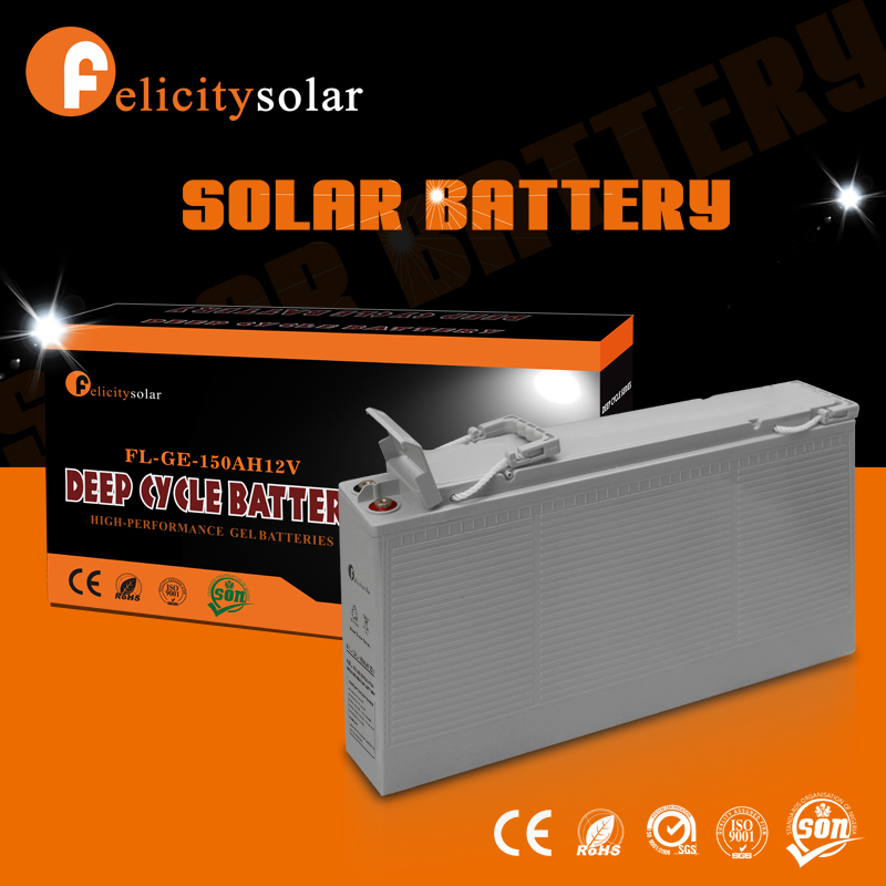 Felicitysolar deep cycle long life solar energy gel battery 12v 250ah with low price