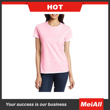 Popular and soft polyester/cotton custom print women blank t shirt