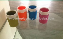 2014 hot sale plastic cup with corlorful rubber painting surface A9149 from factory