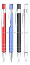 multioncolor metal ball pen promotional metal ball pen,metal roller pen logo printed