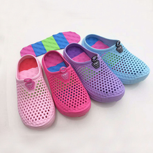 factory holey soft shoes garden injection eva sandals with comfortable insole