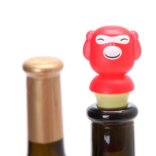 Custom3d cartoon animal style silicone wine bottle stopper