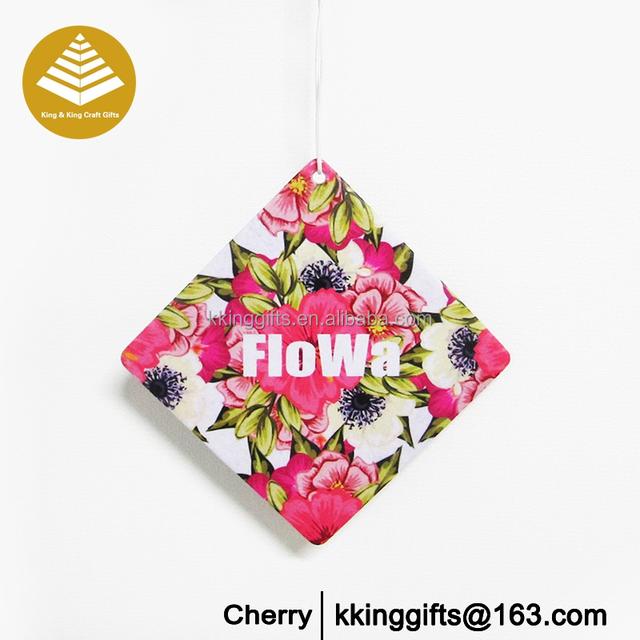 Best price paper hanging new black car fragrance perfume sample paper cards