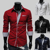 China supplier wholesale men's dress shirt latest shirt designs for man shirt apparel