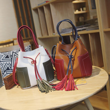 NS1630 Hot sale women fashion vintage tassel bags ladies sexy bucket bag