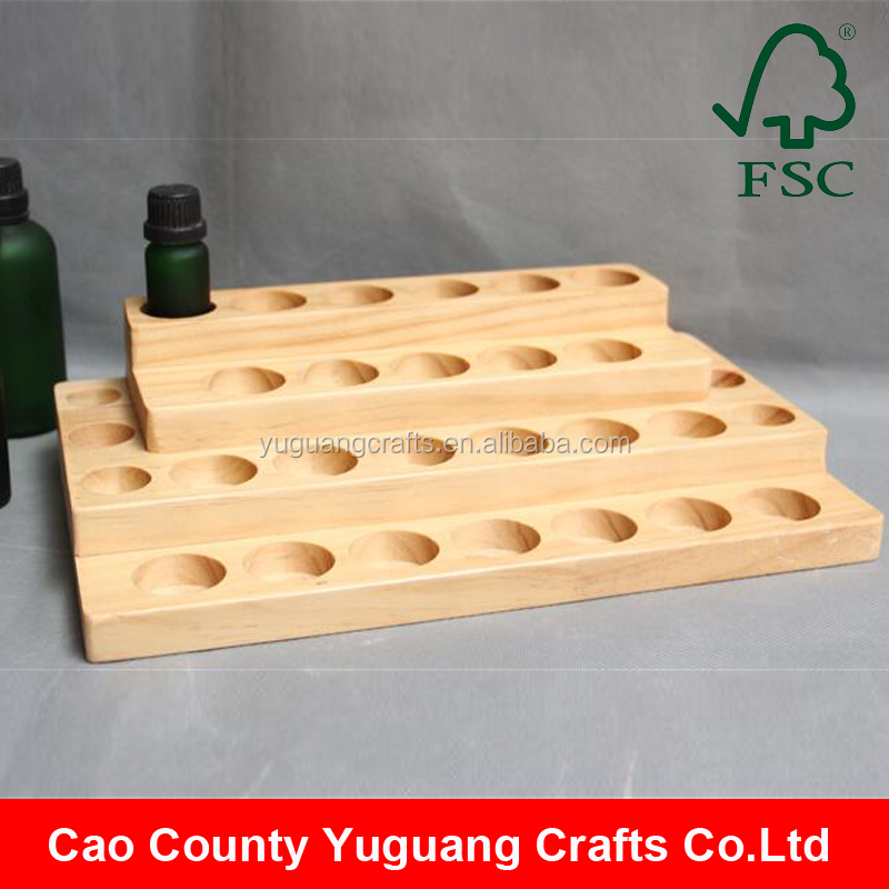 Wholesale Wooden Essential Oil Bottle Display Stand