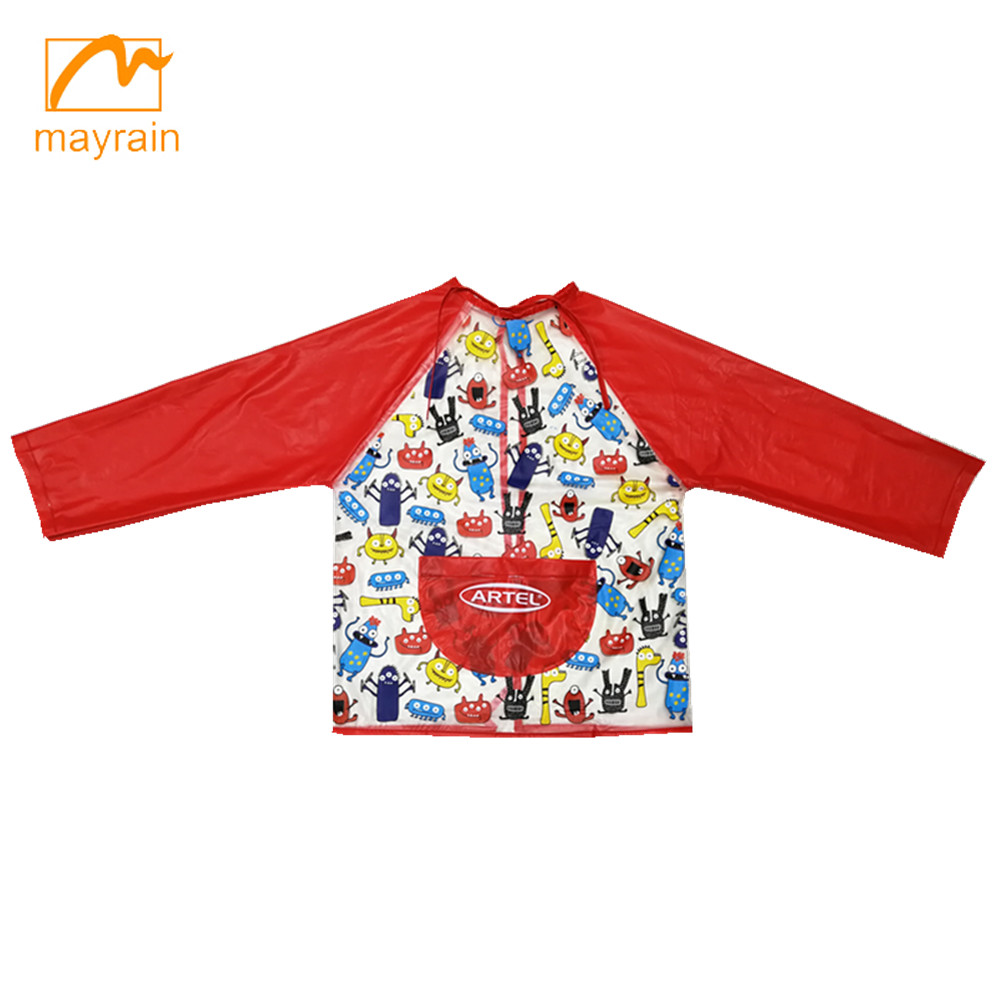 Cheap waterproof kids drawing apron