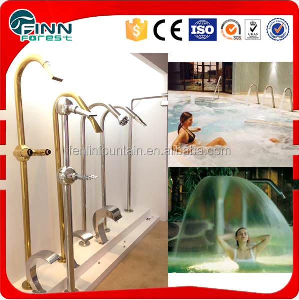 SS304 pool use auto water curtain spray water jet nozzle