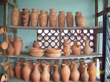 Hand-made clay Pottery
