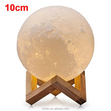 10CM Creative 3D Print Moon Lamp with Touch-Sensing Switch 3D Lunar Lamp Color Changeable Night Lights For Decoration