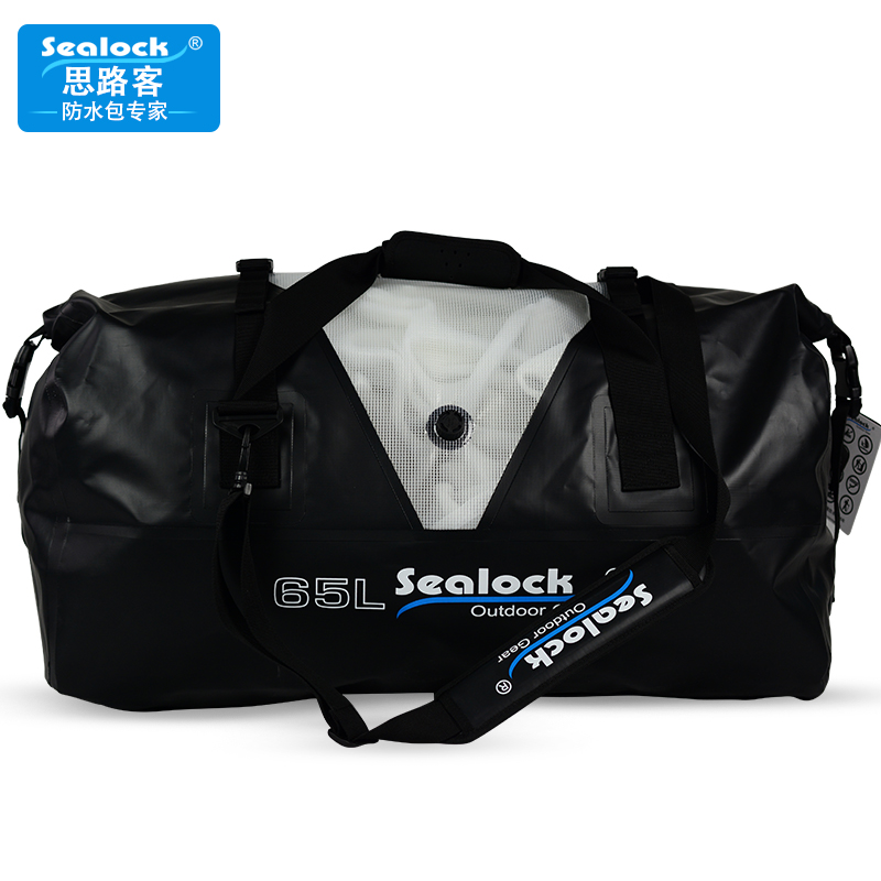 65L 1000D PVC material high quality with air vent waterproof outdoor sport Travel duffel bag for packing