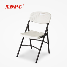 wholesale new lightweight white blow plastic outdoor garden wedding picnic camping folding chairs with metal legs