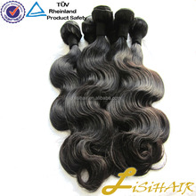 Malaysina human virgin remy hair kinky curly top quality #1b natural color
