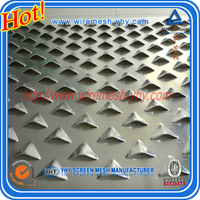 Aluminium perforated metal sheet mesh with a special hole punching sheet