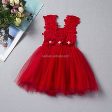 <strong>Girl's</strong> new style wedding chiffon <strong>dress</strong> and embroidered flower sleeveless gauze pure colour princess <strong>dress</strong>