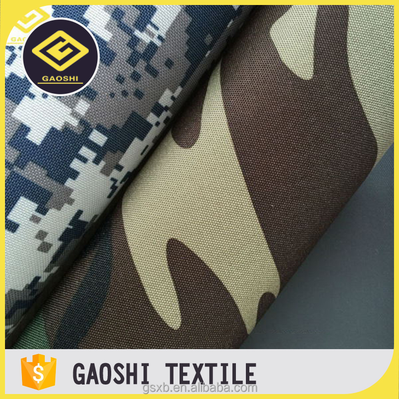 Popular New Designed 600D Polyester Camouflage Printed Qxford Military Fabric With PVC Backing