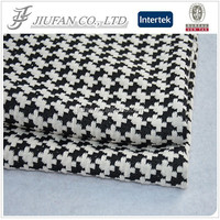 Jiufan Textile Competitive Price Knitted Fabric Houndstooth TR Jacquard Fabric Supplier Polyester Rayon Spandex Fabric For Sale