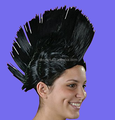 2017 new promotion black mohawk wig for football fan wig
