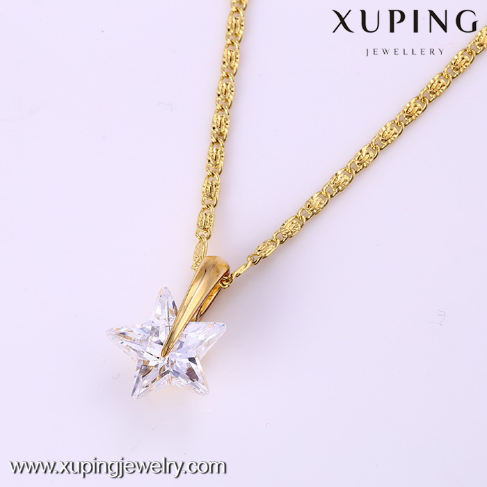31640 -xuping charm five-point stars pendant with 14k gold-plated