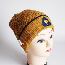 Professional factory supply customized high quality knitted adults winter hat