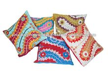 HANDMADE DECORATIVE OLD ANTIC PATCH WORK 5 PCS CUSHION COVER