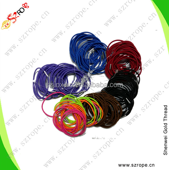 Elastics with metal,2MM basic colored hair elastic tie