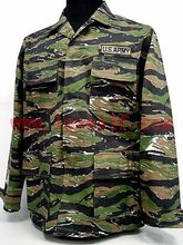Loveslf US Army Vietnam War Tiger Stripe Camo BDU Uniform Shirt Pants