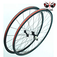 Super light only 1300g road bicycle wheelset 700C*25mm, clincher rim