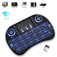 2016 Rii I8 2.4g Wireless Mini Keyboard, 92 Keys Gaming Keyboar, I8 Air Mouse With Blue Backlight And Touchpad