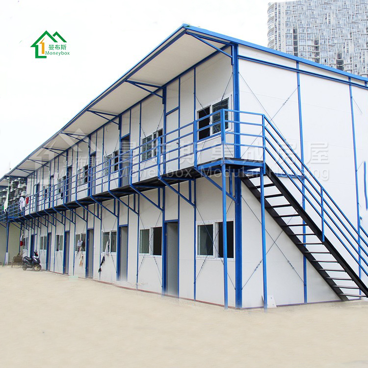 well designed light steel structure buildings prefab house for construction site with CE