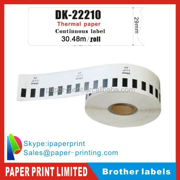thermal sticker paper dk-2210 laebl tape for brother ql 700 printer labels