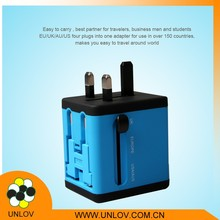 Newest AC multi plug global used universal uk usb travel adapter