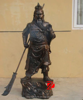 Chinese famous bronze sculpture guan gong feng shui products
