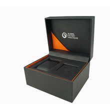 custom logo popular carbon fiber PU leather watch box single wholesale