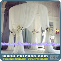 RK tiffany white wedding decorations/round pipe and drape design/indian crown wedding mandap decorations sale