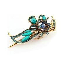 Multicolor Korean Retro Crystal Butterfly Flower Hairpins Hair Sticks