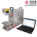 China desktop laser machine 20w portable mini fiber laser marking machine for metal